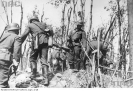 Niemieccy żołnierze przeszukują Westerplatte po kapitulacji